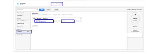 google analytic segments