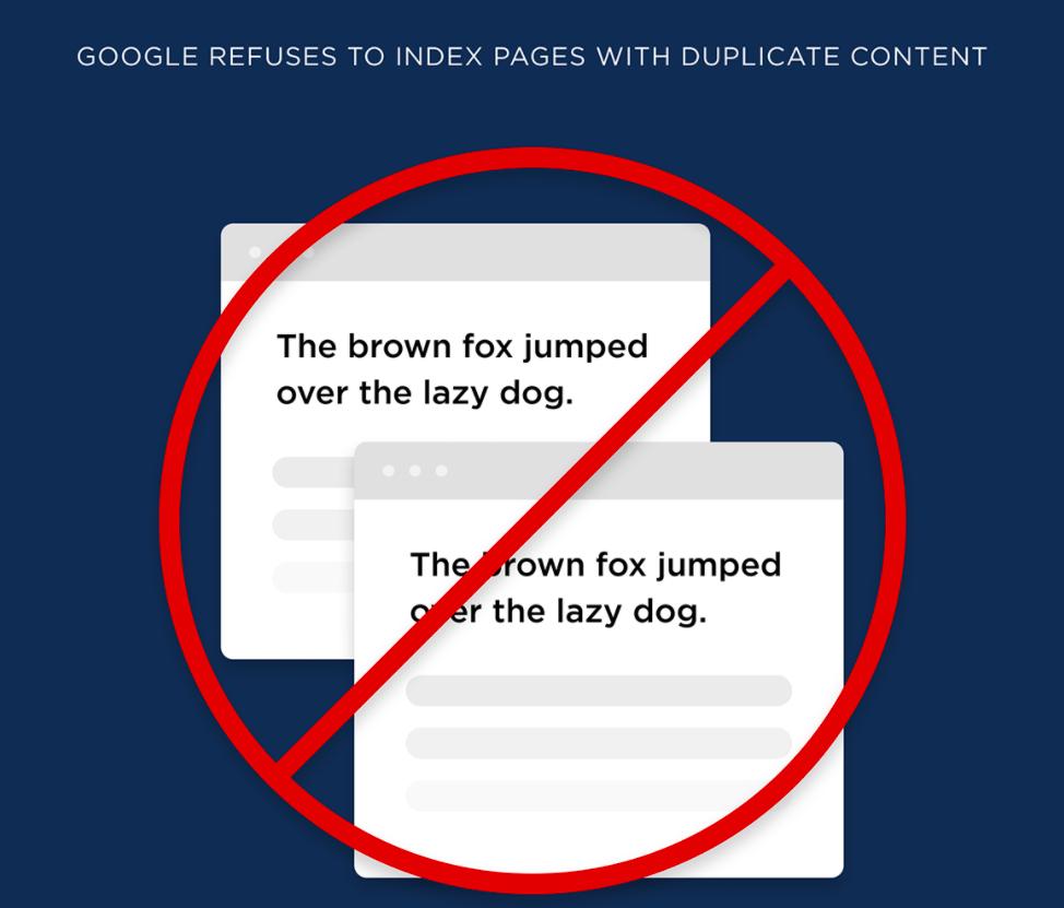 Google declare the content plagiarized